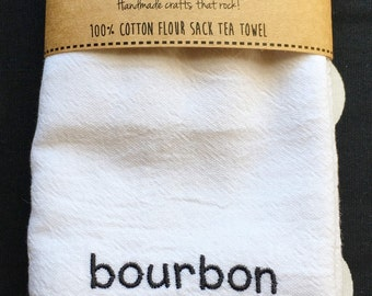 Bourbon Is A Food Group Flour Sack Tea Towel