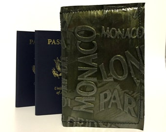 RFID Passport Cover / RFID Leather Passport Cover / Double Passport Cover / RFID Leather Passport Holder / Leather Passport Wallet