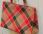 Vintage Margaret Smith Handbag/Vintage Tartan Purse/Designer Bag