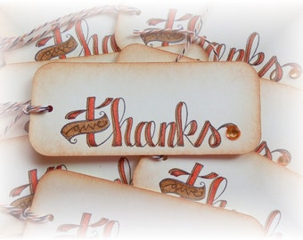 Give Thanks - Happy Thanksgiving Tags (8)