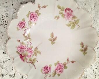 large antique china bowl, R. C. Bavaria, rose china porcelain