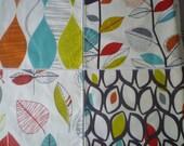 Orange Napkins 4 Different Designs Funky Retro Fabric Napkins washable ANY of MY DESIGNS