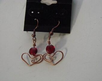 Handcrafted Heart Earrings
