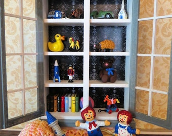 FaNtAsTiC Toy Closet and Toys For Dollhouse Miniature 1:12 scale by Kelly Morin of FatCatDesigns