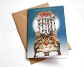Feline Forest // Blank Greeting / Christmas Card