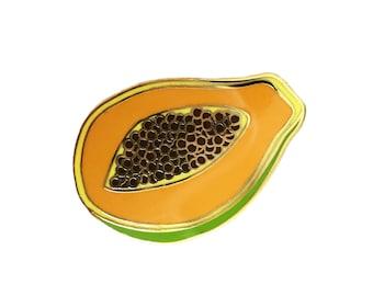 Papaya Enamel Pin