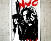 Kurt Russell as Snake Plisskin fan art illustration, Art print, Pop Art, Geekery Art, Man Cave Decor, Movie Poster, Movie Art, New York art