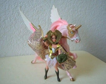 Princess of Power Action Figure, SHE-RA with her Unicorn, Royal Swift Wind, 1980s