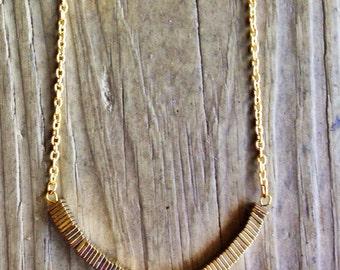 Medium Length Gold Layering Necklace