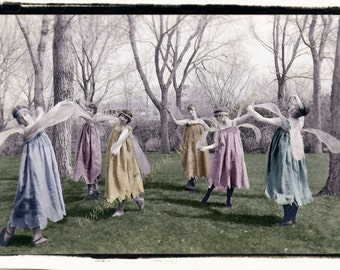 Instant Download Vintage Photograph - Dance of the Fairies
