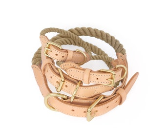 SALE Rope Dog Collar, Traveller