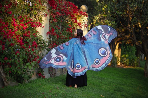 Blue butterfly cape is... Blue Buckeye Butterfly