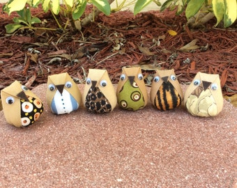 6 mini plush owls plush owl favors owl baby shower - Lot 1