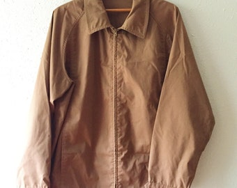 Vintage, Men's, Brown, London Fog, Lightweight, Zip Up, Spring, Fall, Men's Jacket, Unisex Fashion