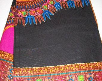 Black and pink dashiki fabric 6 yards wholesale/ Dashiki clothing/ Angelina fabric/ Black Java print