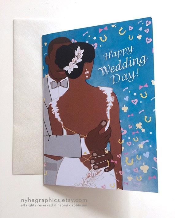 African American Bride Amp Groom Wedding Card Congratulations