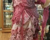 Upcycled vintage/antique boho party dress