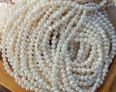 4-5mm  Creamy White Side Drilled Potato freshwater pearls  - Full Strand