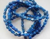 Lapis lazuli , nugget beads 7-9x6-7 mm) full strand (16 inches)