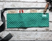 Teal Polka Dot Garden Tool Belt