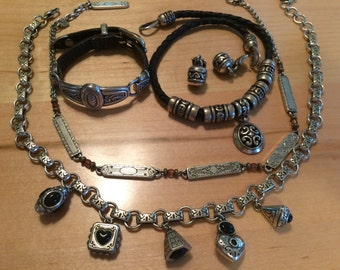 Brighton Collection: Necklaces, Earrings, Bracelet for wearonf or deconstruction.