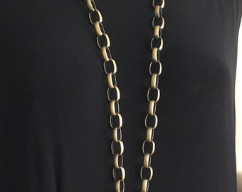 Antique Brass large Wide Link ID Lanyard
