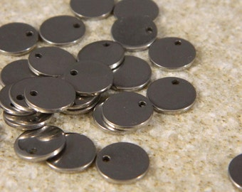 Stainless Steel 8mm Disc Charms