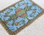 Miniature William Morris Design Rug in Large Size for Dollhouse or Playscale