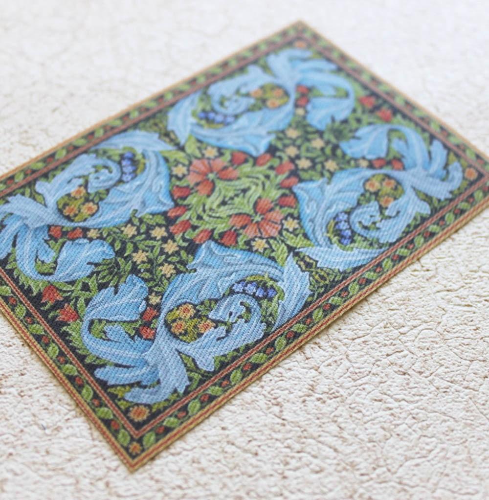 Miniature William Morris Design Rug In Large Size For