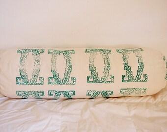 Boho cushion , ethnic style pillow printed, block printing design, Bohemian Deco