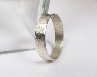 Sterling Silver Men's Ring - silver - men's rings - hammered