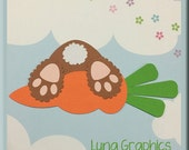 BUNNY and CARROT  Embellishments Paper Piecing card making and scrapbooking