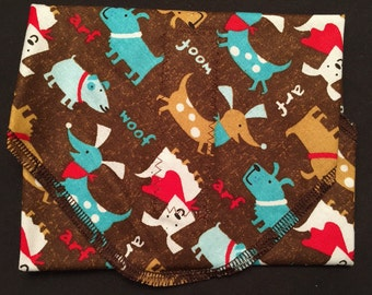 Reusable Sandwich Wrap, Puppy Sandwich Wrap, Waste Free Lunch, Kids Lunch Wrap