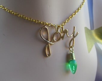 Christmas Joy and light ornament Necklace A 2