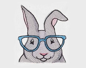 Happy Easter Bunny Rabbit Tea Towel | Embroidered Tea Towel | Embroidered Kitchen Towel | Embroidered Hand Towel |Kitchen Towel |Easter Gift