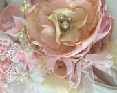Pink lemonde baby girl couture headband cozette couture baby headband photo prop toddler headband
