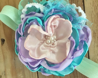 Spring fever flower headband cozette couture sale headband sale flower