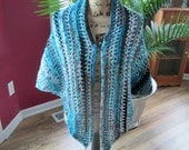 Crochet Triangle Shawl PATTERN, by Auntie J's Gifts