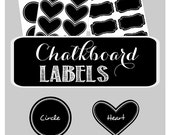 Chalkboard Stickers - Chalkboard Labels - Chalk Board Labels - Chalk Board Sticker Labels - Chalkboard Labels for Mason Jars - set of 24