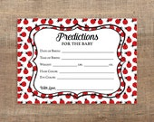 Ladybug Predictions for the Baby Printable Cards, Ladybug Shower Activity, Guess Baby Weight, Baby Stats, INSTANT DOWNLOAD