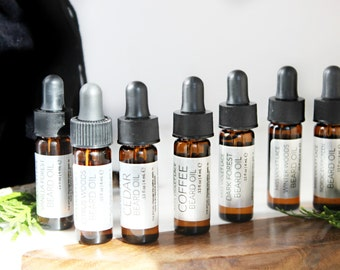 Gifts for Men | Beard Oil Sampler set | Father's Day Gifts | Trial size 100% natural and vegan beard oils