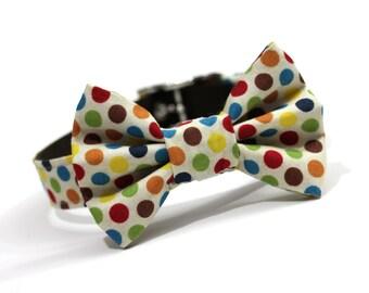 Dog Collar and Bow tie, Bowtie Dog Collar- Confetti Dots