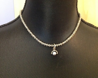 Doncaster Dark Blue Pearl Necklace