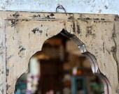 Mirror Reclaimed Vintage Indian Door Panel Wall Hanging Art Distressed Cream Mirror Moroccan Decor Turkish Mediterranean