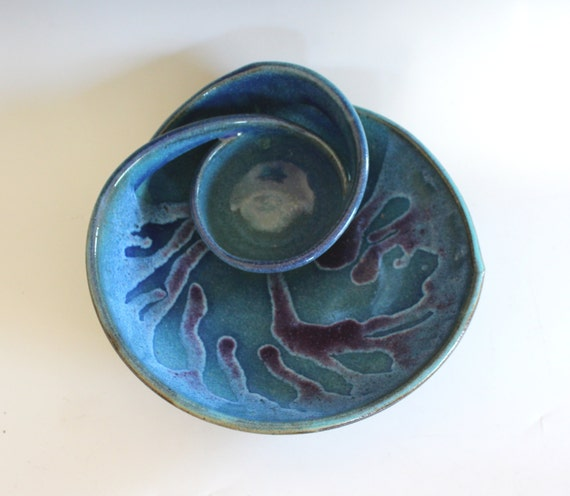 Chip and Dip, handmade ceramic dish, ceramics and pottery, pottery bowl, handthrown stoneware