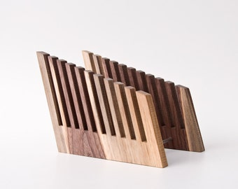 File Organizer / File Holder / File Storage / Desk Accessories / Wood File Rack LONG FRITZ