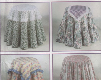 Tablecloth Pattern  Design Your Own Round Square Uncut Simplicity 9251