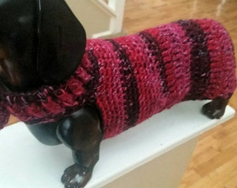 Dachshund , doxie crochet  sweater