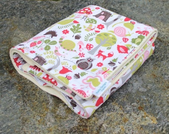 Organic Sherpa Baby Blanket | Organic Cotton Blanket | Forest Animals | Handmade Blanket | Heirloom Blanket | Newborn Baby Gift