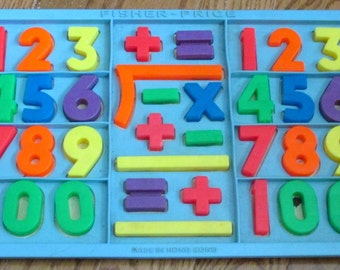 Fisher-Price Numbers set with tray complete